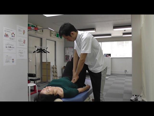 【施術動画】ぎっくり腰 膝を立てて寝ると楽になる場合は 大腰筋をゆるめる