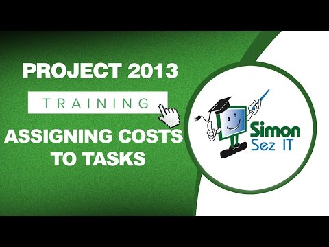 Microsoft Project 2013 Tutorial - Assigning Costs to Tasks