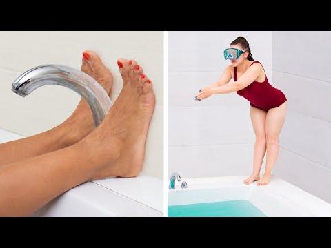 Mädchen Probleme mit Langen und Kurzen Beinen - Kleine Leute gegen Große Leute