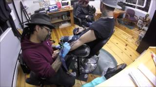 PIMPMYTATTOO SHOW - Tattoo Timelapse - E8 - Dragon on glass transformation