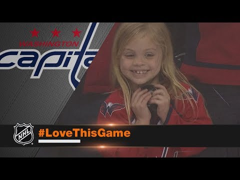 Young girl overjoyed after receiving puck from Brett