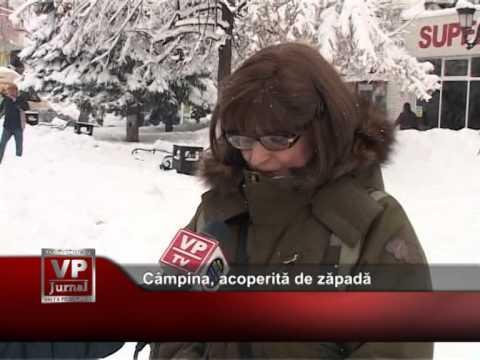 Câmpina, acoperită de zăpadă