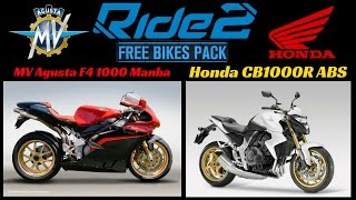 9. RIDE 2 PS4 PRO gameplay Part 75 | Free Bikes Pack | Honda CB1000R ABS & MV Agusta F4 1000 Mamba