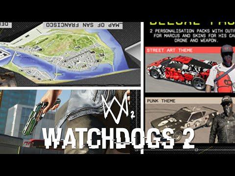 WATCH DOGS 2 - CAR & GUN CUSTOMIZATION & MAP SIZE (Watch Dogs 2 Gameplay)