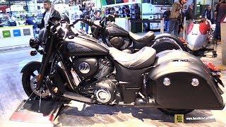 8. 2018 Indian Springfield Dark Horse - Walkaround - 2017 EICMA Milan Motorcycle Exhibition
