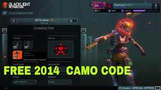 RARE 2014 CAMO/SKIN CODE + MORE - BLACKLIGHT RETRIBUTION