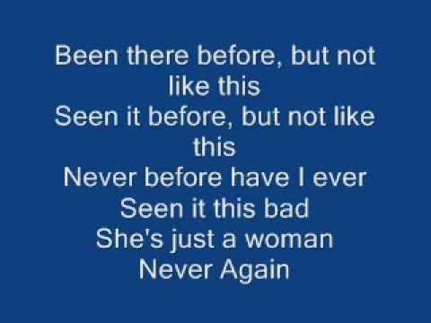 Nickelback Never Again Lyrics