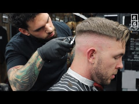 Mens hairstyles - High Skin Fade Long On Top Haircut  Good Haircut When Growing Out The Top
