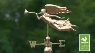 Angel Weathervane - Polished Copper - Good Directions