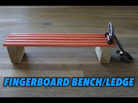 HOW TO MAKE A FINGERBOARD BENCH/LEDGE/BOX (Tutorial)