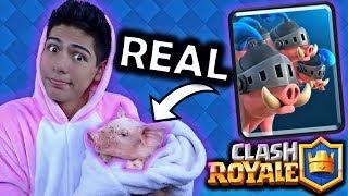 ¡Clash Royale en la VIDA REAL! ¡TENGO A LOS PUERCOS REALES! - [ANTRAX] ☣