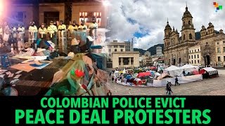 Colombian Police Evict Peace Deal Protesters full download video download mp3 download music download