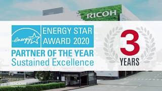 RICOH ENERGY STAR AWARD 2020 Partner of the Year Sustained Excellence 3 Years