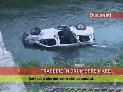 Un microbuz a căzut în râul Dâmbovița! Trei persoane au murit, șase sunt rănite