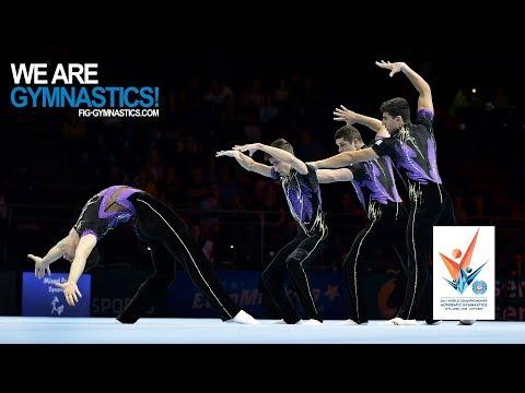 2018 Acrobatic Worlds, Antwerp (BEL) - Highlights MEN'S GROUP FINAL - We Are Gymnastics !
