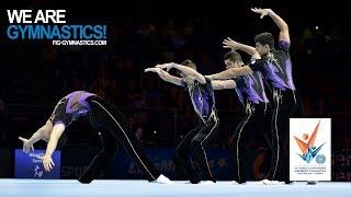 Video 2018 Acrobatic Worlds, Antwerp (BEL) - Highlights MEN'S GROUP FINAL - We Are Gymnastics ! MP3, 3GP, MP4, WEBM, AVI, FLV April 2019