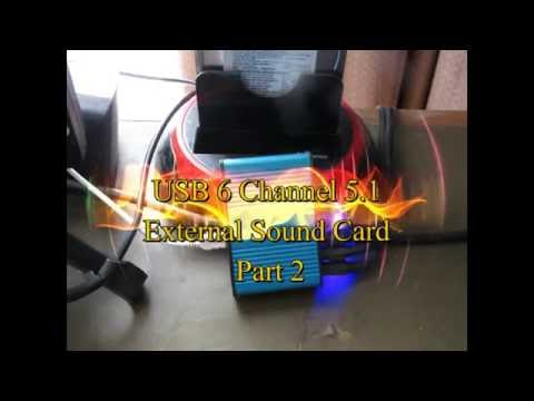 📌Cheap USB 6 Channel 5 1 External Sound Card - Part 2 Installing Drivers for Linux and Windows 10