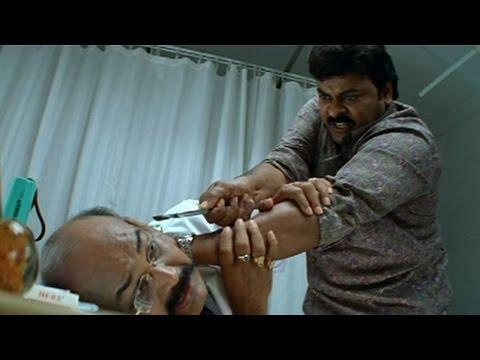 Jai Chiranjeeva Movie || Chiranjeevi Giving Warnnig To Doctor || Action Scene