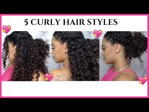5 EASY CURLY HAIRSTYLES  CHELSEA MARI