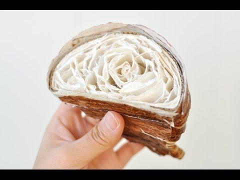 用紙就可以做出牛角麵包!