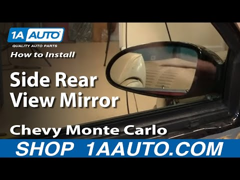 How To Install Replace Side Rear View Mirror Chevy Monte Carlo 00-07 1AAuto.com