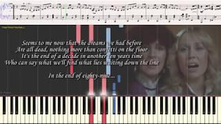 Happy New Year - ABBA (Ноты и Видеоурок для фортепиано) (piano cover)