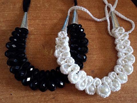 Collana perle e Crochet - tutorial uncinetto bijoux