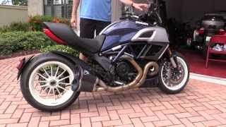 10. Ducati Diavel Walkthrough.  Corsa Blue with White Strip.  Pretty Bike!  Also for Sale