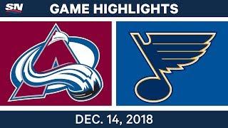 NHL Highlights | Avalanche vs. Blues - Dec 14, 2018 by Sportsnet Canada