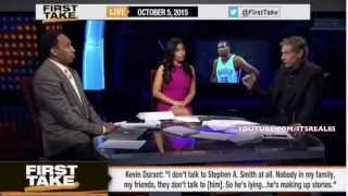 Old news when Stephen a smith went gangsta on KD saying he dont want beef!. Stephen about that life!  old  but decided to post it anyway.