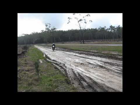 Mud and fun on motorbikes