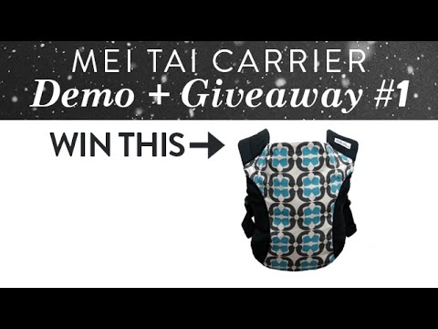 How to Carry a Baby in the Catbird Baby Mei Tai + GIVEAWAY | CloudMom