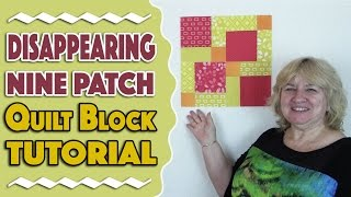 Quilting Blocks: In this tutorial video, we show you how to create the Disappearing Nine Patch quilt block. This is quick and easy and perfect for a beginner.--FULL WRITTEN INSTRUCTIONS HERE--http://www.alandacraft.com/quilt-block-disappearing-9-patch-block/---WATCH MORE QUILT BLOCK TUTORIALS HERE---https://www.youtube.com/playlist?list=PLMxvvtt3Z3CKZx04rEe8Vod1SP1EX767l---FOLLOW US ON---Website: http://www.alandacraft.comFacebook: http://www.facebook.com/alandacraftPinterest: http://www.pinterest.com/alandacraft/Instagram: http://instagram.com/alandacraftTwitter: http://twitter.com/AlandaCraftTumblr: http://www.tumblr.com/blog/alandacraft