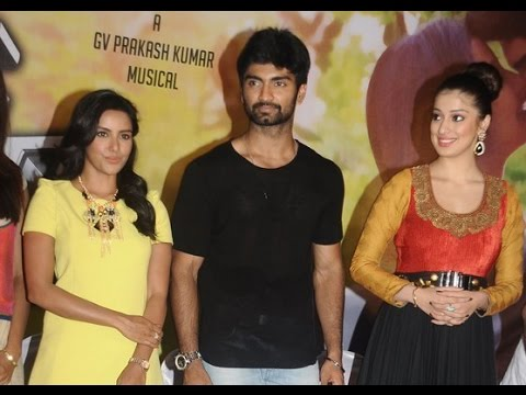 Adharvaa, Priya Anand, Laxmi Raai and Yuvaraj Bose at Irumbu Kuthirai Press Meet