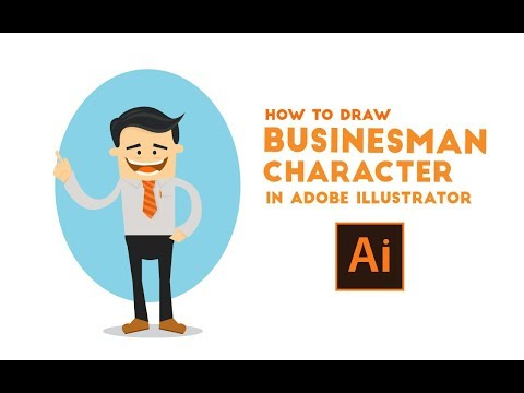 (TUTORIAL) How to draw simple businessman flat cartoon character
