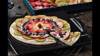 Gluten Free Fruit Pizza in 1 Minute
