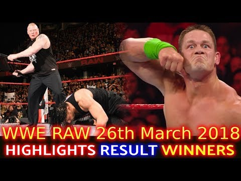 WWE Monday Night Raw 26th March 2018 Hindi Highlights - Roman Reigns | Brock Lesnar | Results Winner