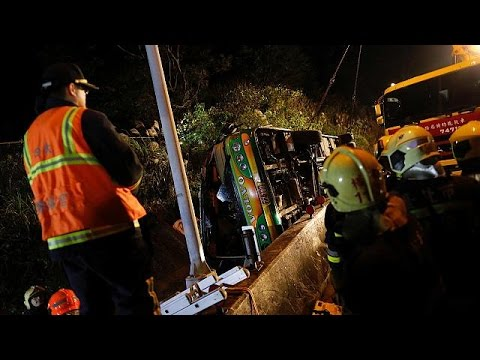 Ταϊβάν: 32 νεκροί σε δυστύχημα με λεωφορείο