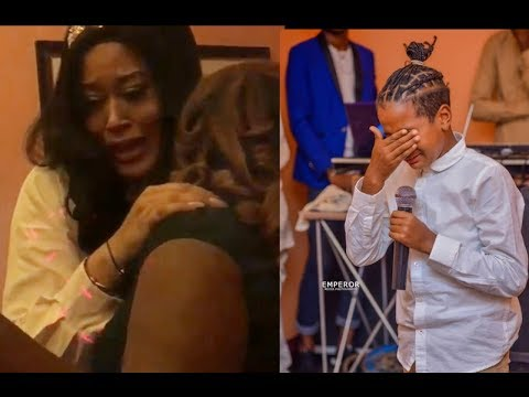 Actress Aduni Ade wept As Her Kids,Mercy Aigbe,Ijebu &Others Throw A Surprise Birthday Party For Her