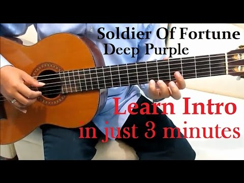 Deep Purple Soldier of Fortune Guitar Tutorial ( Intro ) – Guitar Lessons for Beginners