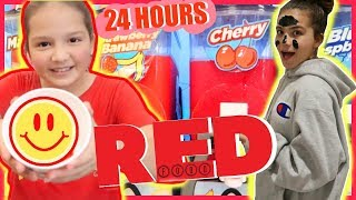 EATING ONLY RED FOOD FOR 24 HOURS | SISTER FOREVER