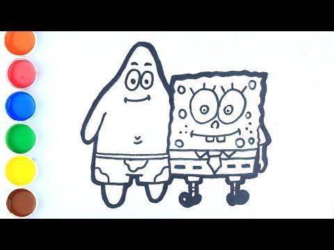 Cara Menggambar dan Mewarnai Spongebob dan Patrick Sahabat Selamanya