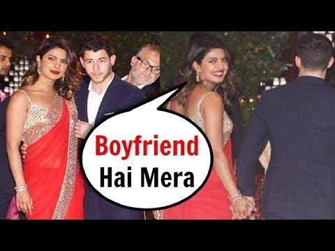 Priyanka Chopra With Boyfriend Nick Jonas At Akash Ambani Engagement Party 2018