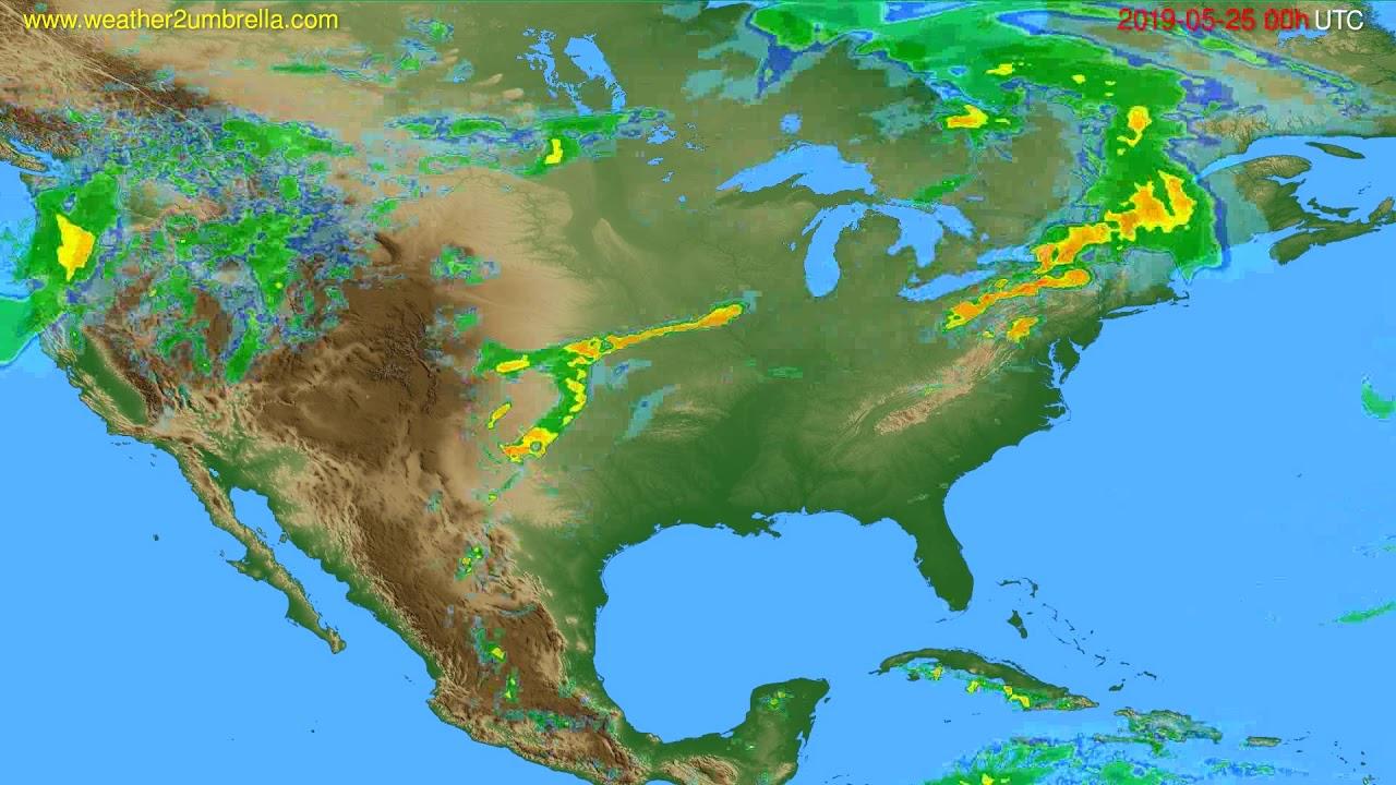 Radar forecast USA & Canada // modelrun: 12h UTC 2019-05-25
