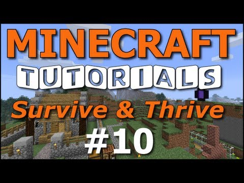 e10 - How to Survive and Thrive in Minecraft survival mode! In this episode, we lure chickens to our coop and breed them! We also craft a fishing pole and catch a ...
