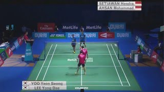 Video Dubai World Superseries Finals 2015 | Badminton SF M1-MD | Lee/Yoo vs Ahs/Set MP3, 3GP, MP4, WEBM, AVI, FLV November 2018