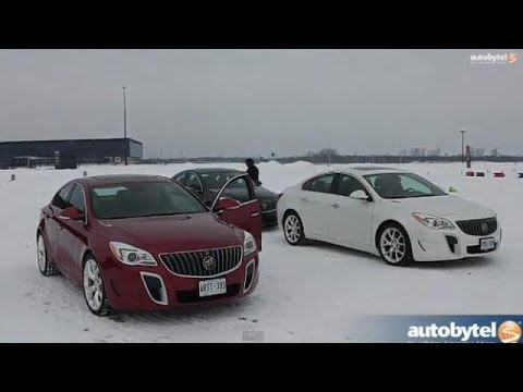 2014 Buick Regal GS AWD Winter/Ice Driving @ ICAR Motorsports Complex