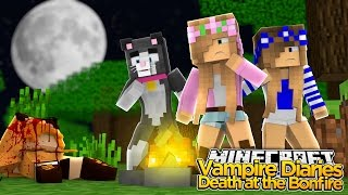 Minecraft The Vampire DIaries : LITTLE KELLY SEES A DEATH AT THE BONFIRE!
