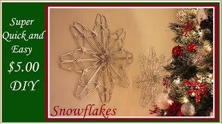 Dollar Tree DIY - Sparkle Hanger Snowflake - Glam Christmas Decor