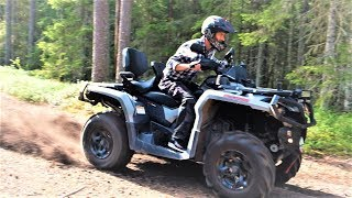 5. Pushing the Can-Am Outlander 1000 MAX ATV in northern Sweden